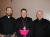 Mgr Keith (centre) with Fr Neil (left) and Fr Geoff