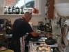 Wednesday morning: Graham preparing cooked breakfast