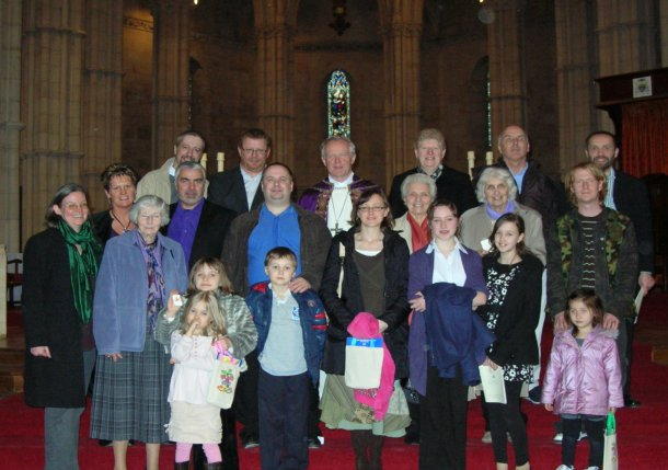 The group with Bishop Kieran at the Rite of Election
