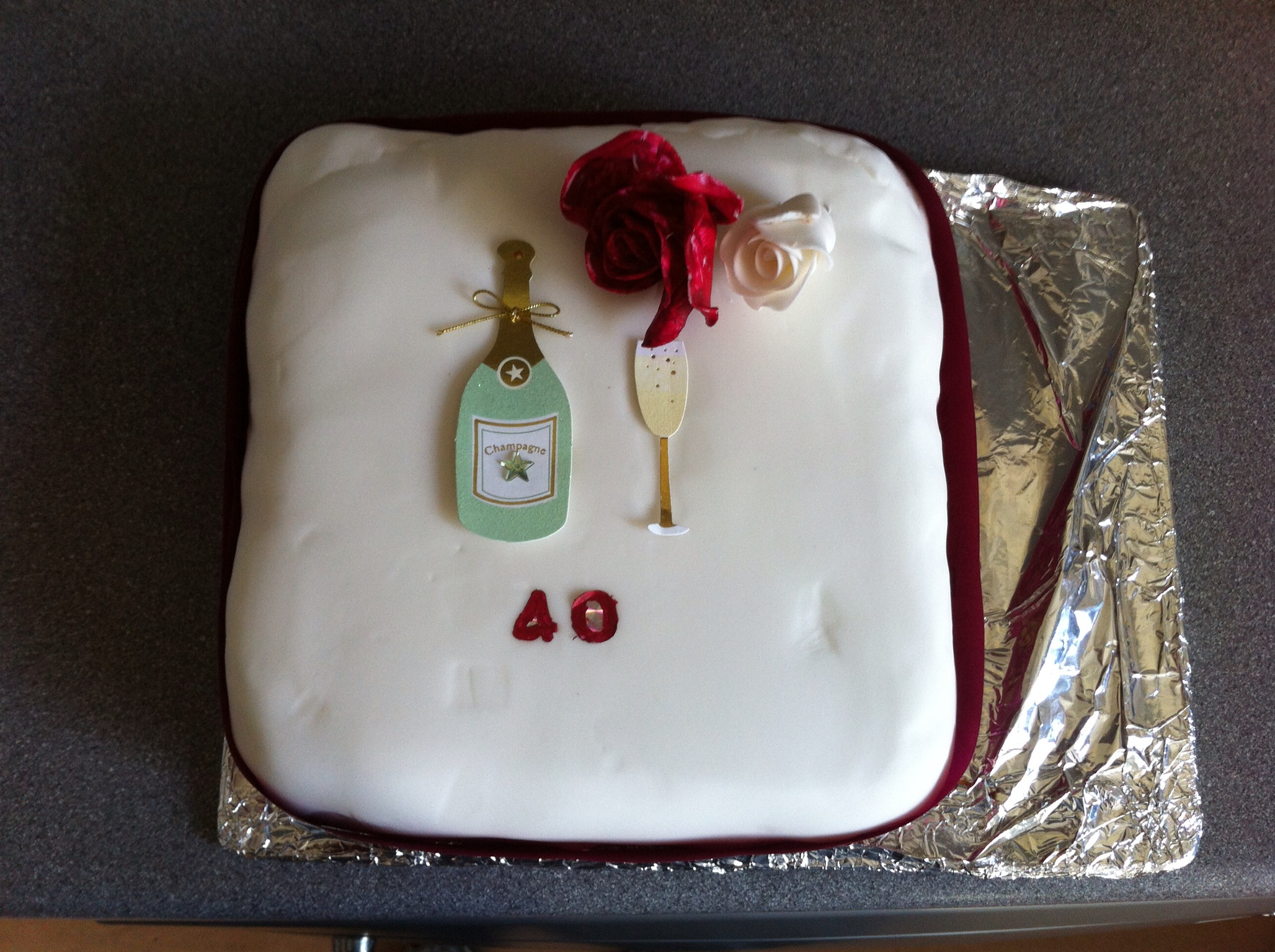 Ruby wedding cake made by Jenny. | Eastbourne Ordinariate ...