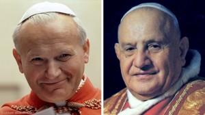 Pope St John Paul II and Pope St John XXIII