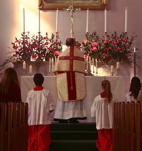 Benediction after mass