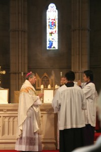 Mgr Keith, our Ordinary celebrated mass.