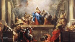 """""""Pentecost"""" (detail), Jean Restout the Younger (1692–1768), 1732; Musée du Louvre"""