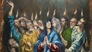 """""""Pentecost"""" (detail), El Greco (1541–1614), c.1596; Museo del Prado"""