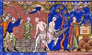 Folio 12v from MS M.638 (Paris, 1240s); Morgan Library & Museum, New York