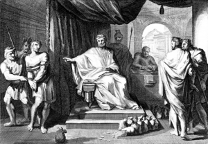 Parable of the Talents; 19th-century anonymous engraving