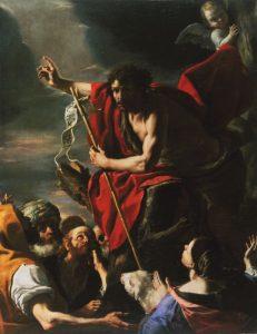 St John the Baptist preaching, Mattia Preti  (Il Cavaliere Calabrese) (1613–1699), c.1665, Malta; Fine Arts Museums of San Francisco