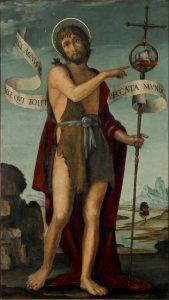 St John the Baptist standing in a landscape, Bernado Zanale (c.1460–1526)