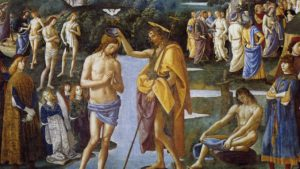 The Baptism of Christ, Pietro Perugino (1446–1523) and his workshop, c.1482 (detail)