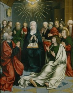 Pentecost, Jan Joest (c.1450–1519), c.1505; Church of St Nicolai, Kalkar