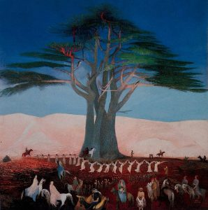 Pilgrimage to the Cedars of Lebanon, Tivadar Csontváry Kosztka (1853–1919), 1907; Hungarian National Gallery