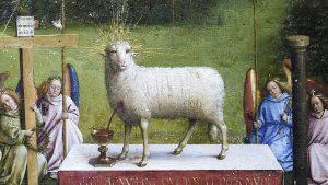 The Adoration of the Lamb, Hubert van Eyck (c.1385–1426) and Jan van Eyck (c.1390–1441); c.1420–1432; St Bavo's Cathedral, Ghent