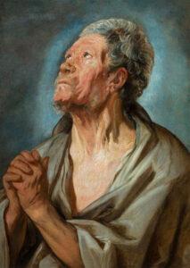 Study of an old man with clasped hands [Abraham de Graef], Jacob Jordaens (1593–1678), c.1621; National Gallery, Prague